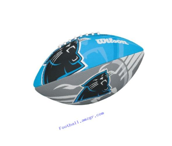 Wilson NFL Junior Team Logo Football (Carolina Panthers)