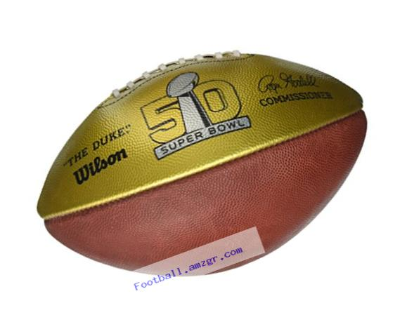 Wilson Golden Anniversary Super Bowl Commemorative Football, Brown/Gold